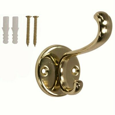 Polished Brass Coat And Hat Hook
