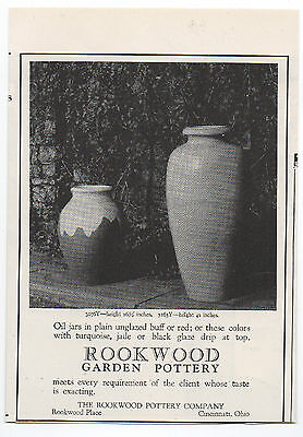 1925 Advertisement with Photo for Rookwood Pottery Cincinnati