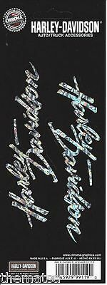 Harley Davidson Motorcycles Script Holographic Sticker Decal