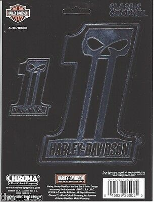 Harley Davidson Motorcycles Willie G. Skull #1  Classic Large Sticker Decal