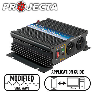 PROJECTA 600 WATT 600W INVERTER 12 12V to 240 VOLT 240V POWER CARAVAN NEW IM600