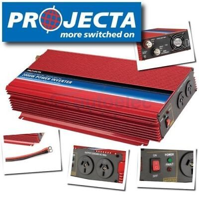 Projecta Power Inverter Im2000 Modified Sine Wave 2000W 12 Volt Car Dc To Ac New