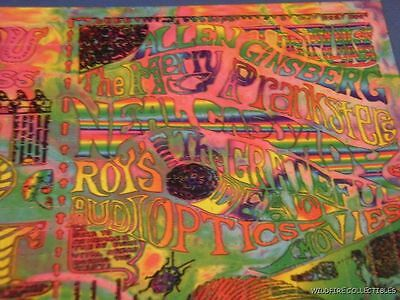 Can you Pass the ACID TESTS BLOTTER ART Grateful Dead 1966 60s Fugs Hippie S.F.