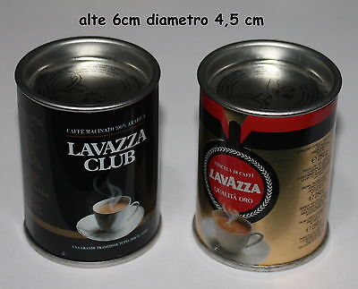 2 x MINI LATTINE DI CAFFE' CON ALL'INTERNO GADGET LAVAZZA CLUB  E QUALITA' ORO