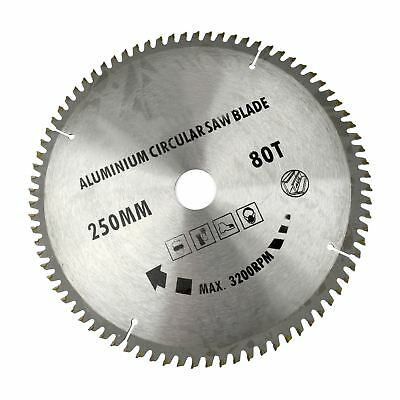 250mm x 30mm TCT Saw Blade 80T / Aluminium Circular Saw  With Reducer TE676