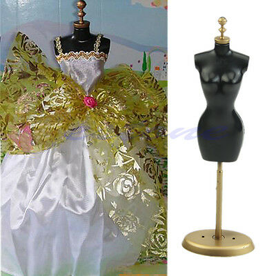 1x Barbie Doll Mannequin Model Display Gown Dress Form Clothes Rack Stand Holder