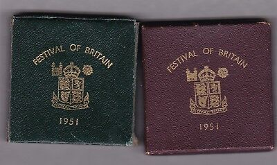 Two Boxed 1951 Festival Of Britain Crowns In Near Mint Condition