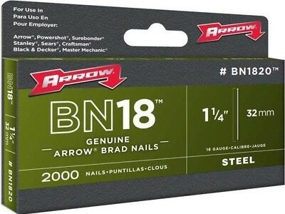 Arrow BN1820 Brad Nails Box 2000