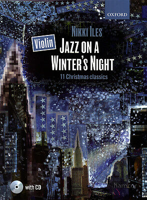 Violin Jazz on a Winter's Night Sheet Music Book/CD 11 Christmas Classics
