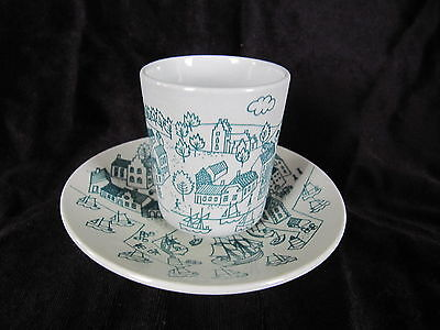 Nymolle Hoyrup Demtasse Cup And Saucer Limited Edition Made In Denmark Ex. Cond.