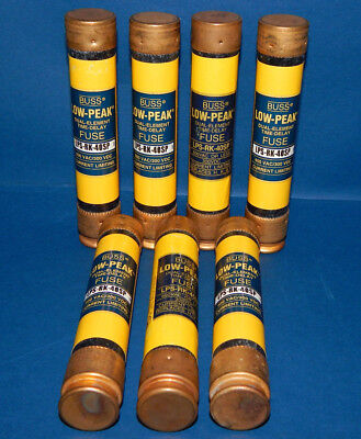 Lot of 7 Bussmann Low-Peak LPS-RK-40SP Fuses 40Amp 600Volt LPSRK40SP