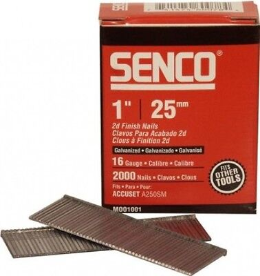 Senco Straight Brad Nails 16Gx25mm Pack 2000