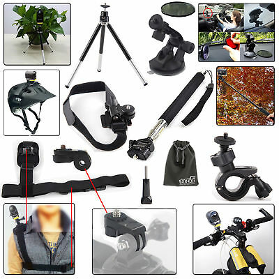 EEEKit Accessories Mount Kit for Sony Action Cam HDR AS20 AS30V AS100V AS200V