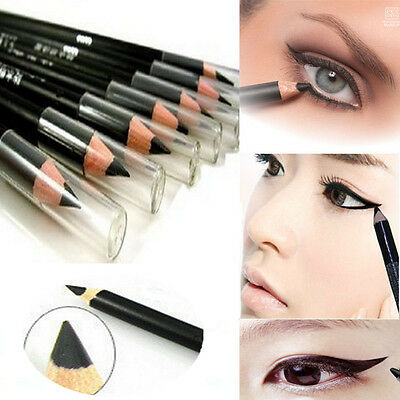2Pcs Black EyeLiner Smooth Waterproof Cosmetic Beauty Makeup Eyeliner Pencil