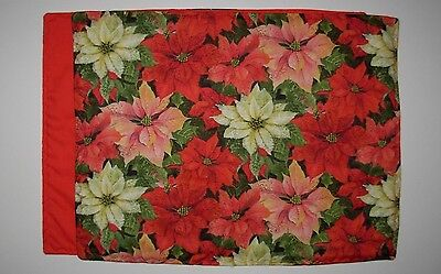 "4 PLACEMATS  -  POINSETTIAS - 14"" X 18"""