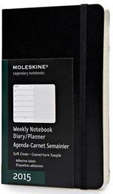 Moleskine Weekly Diary/Planner Pocket Soft Cover Black 2015