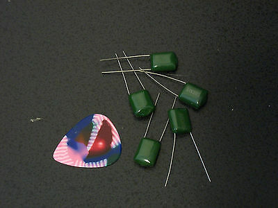 5 Pack NOS .1uf Chiclet Guitar or Bass Tone Upgrade Capacitors