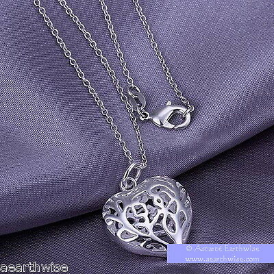 HEART PENDANT WITH CHAIN Wicca Witch Pagan Goth Reiki