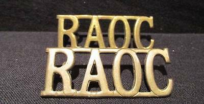 Royal Army Ordnance Corps RAOC Great Britain Pair of Large Shoulder Titles
