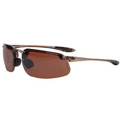 Crossfire Fortitude Shooting POLARIZED Sunglasses Crystal Brown Frames XFFT-303