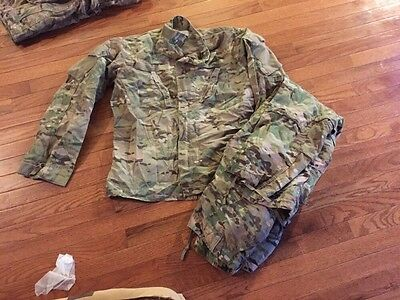 Army Multicam Fire Resistant Combat Uniform Jacket & Trousers, Medium Reg #z64