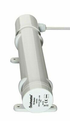 Ecoheater IP55 Small Low Energy 45w Tubular Heater - 1ft Tube - 1m long Cable