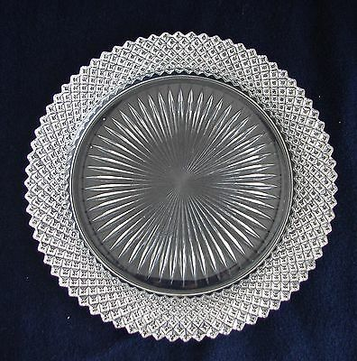 Vintage Anchor Hocking Glass MISS AMERICA Crystal Dinner Plate ~ Excellent!