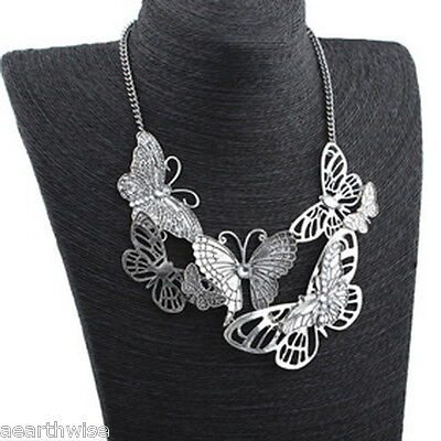 1 x BUTTERFLY NECKLACE Wicca Pagan Witch Goth