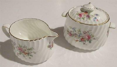 Old Antique Minton China Covered Sugar and Creamer Set - Marlow Pattern