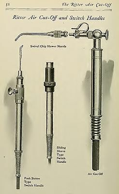 THE RITTER AIR CUT OFF AND SWITCH HANDLES DENTAL DENTIST ANTIQUE 13X19 PRINT