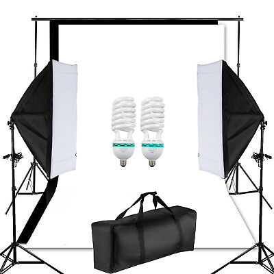 80CM Photography Light Tent Soft Lighting Box Photo Studio 4 Backdrop Kit Cube
