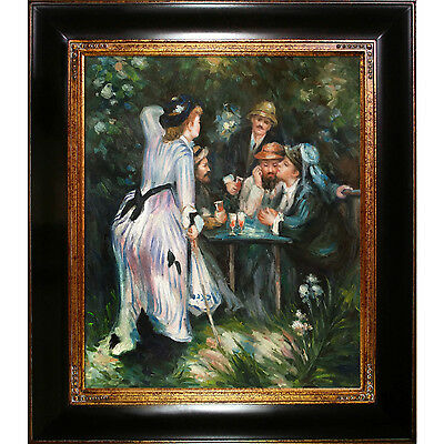 Pierre-Auguste Renoir 'In The Garden' Hand Painted Framed Canvas Art
