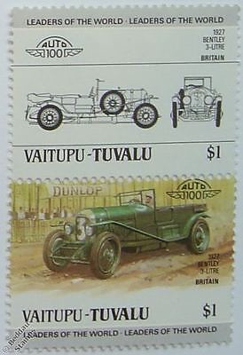 1927 BENTLEY Car Stamps (Leaders of the World / Auto 100)