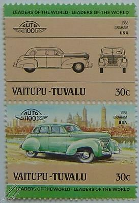 1938 GRAHAM Car Stamps (Leaders of the World / Auto 100)