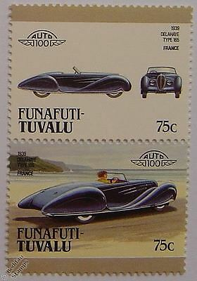 1939 DELAHAYE Type 165 Car Stamps (Leaders of the World / Auto 100)