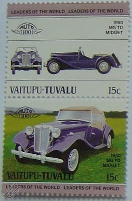 1950 MG TD MIDGET Car Stamps (Leaders of the World / Auto 100)