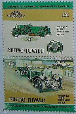 1930 BENTLEY 4.5L SUPERCHARGED Car Stamps (Leaders of the World / Auto 100)