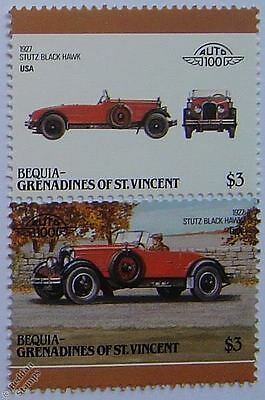 1927 STUTZ BLACK HAWK Car Stamps (Leaders of the World / Auto 100)
