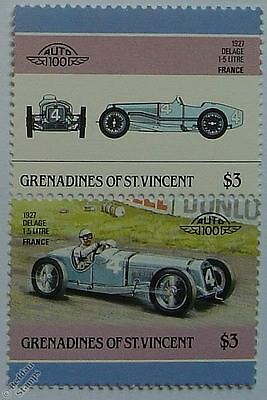 1927 DELAGE Car Stamps (Leaders of the World / Auto 100)