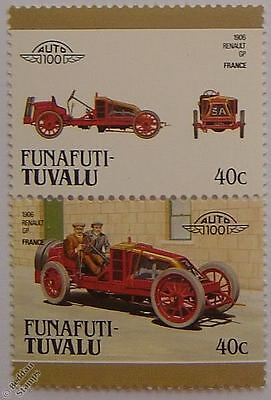 1906 Renault GP Car Stamps (Leaders of the World / Auto 100)