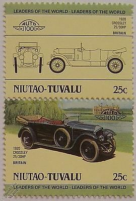 1920 CROSSLEY 25/30HP Car Stamps (Leaders of the World / Auto 100)