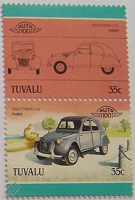 1950 CITROEN 2-CV Car Stamps (Leaders of the World / Auto 100)