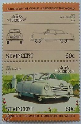 1950 NASH RAMBLER Car Stamps (Leaders of the World / Auto 100)