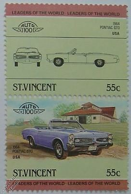 1964 PONTIAC GTO Car Stamps (Leaders of the World / Auto 100)