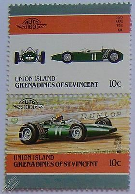 1962 BRM P56 Graham Hill Car Stamps (Leaders of the World / Auto 100)