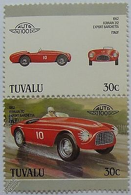 1952 Ferrari 212 Export  Car Stamps (Leaders of the World / Auto 100)