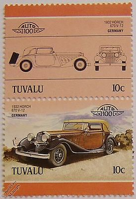 1932 HORCH 670 V12 Car Stamps (Leaders of the World / Auto 100)
