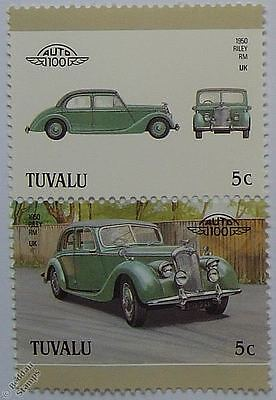 1950 RILEY RM Car Stamps (Leaders of the World / Auto 100)