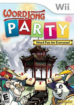 NEW SEALED Word Jong Party Nintendo Wii Video Game puzzles multiplayer mahjong s