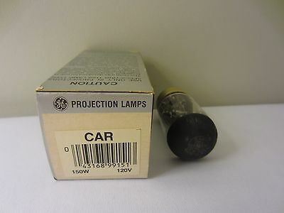 GE General Electric CAR 120V 150W Projection Lamp Projector Bulb NIB